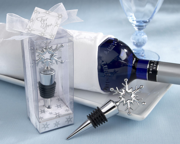 <center>Snowflake Bottle Stopper in Shimmering Gift Box</center>