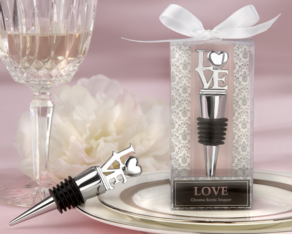 <center>�LOVE� Chrome Bottle Stopper </center>