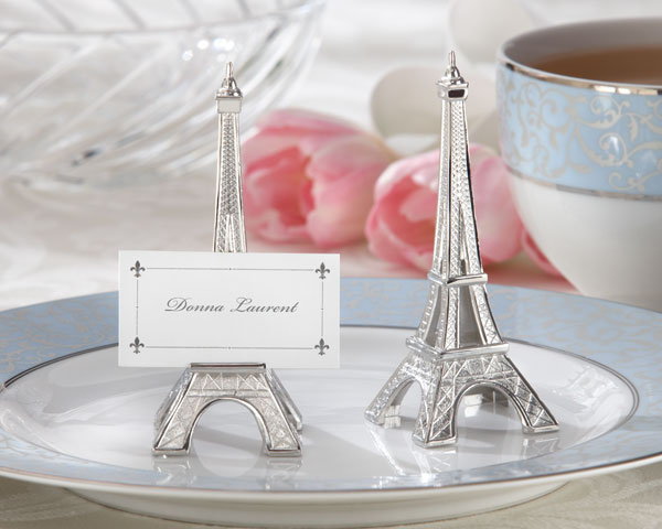 <center>Eiffel Tower Place Card/ Photo Holder (Set of 4) </center>