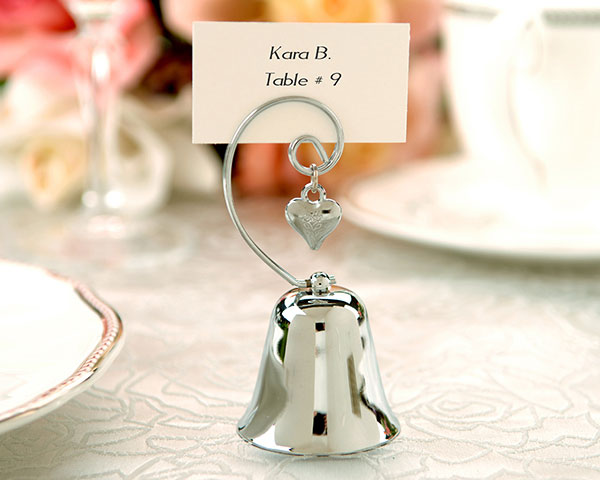 <center>Charming Bell Place Card / Photo Holder (Set of 4)</center>