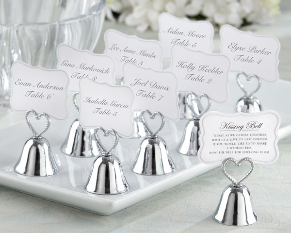 <center>&quot;Kissing Bell&quot; Place Card / Photo Holder (Set of 24)</center>