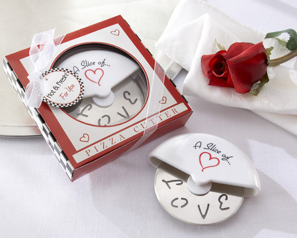 "<center>""A Slice of Love"" Pizza Cutter in Mini Pizza Box</center>"