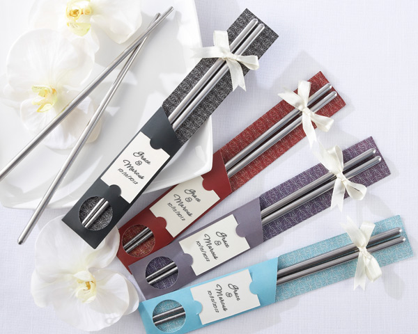 "<center>""East Meets West"" BLUE Chopsticks (Set of 12)</center>"