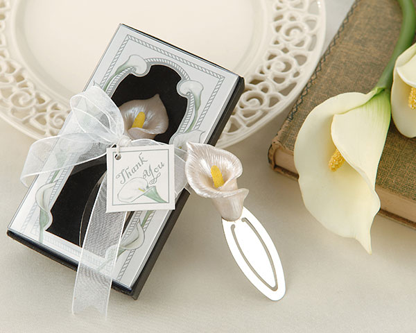 "<center>""Remember Romance"" Calla Lily Bookmark in Gift Box</center>"