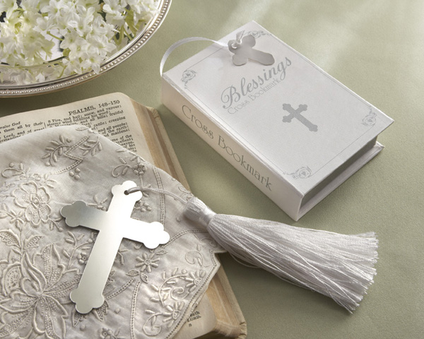 <center>�Blessings� Silver Cross Bookmark in Keepsake Box</center>