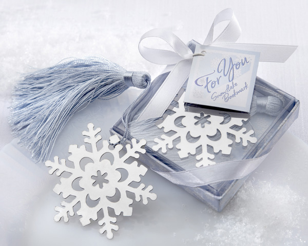 <center>Snowflake Bookmark with Ice-Blue Tassel</center>