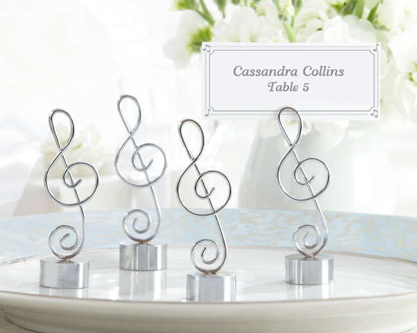 <center>Music Note Place Card / Photo Holder (Set of 4)</center>