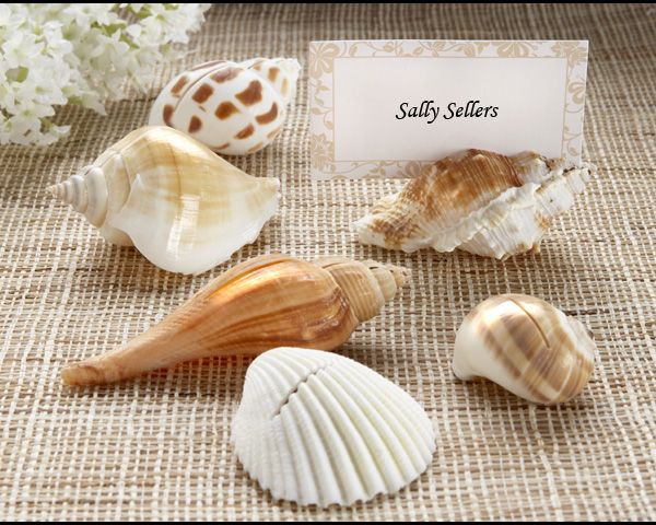<center>Authentic Shell Placecard Holders (Set of 6) </center>