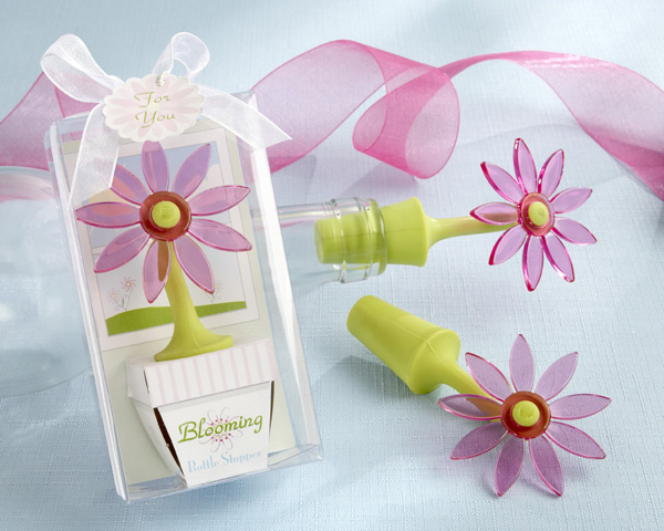 <center>�Blooming� Flower Bottle Stopper in Gift Box </center>