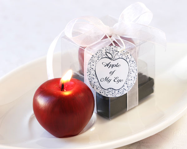 <center>&quot;Apple of My Eye&quot; Mini-Candle in Gift Box</center>
