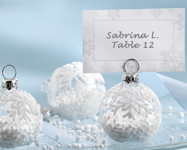 <center>Glass Ornament Place Card / Photo Holder (Set of 6)</center>