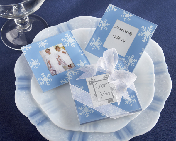 <center>�Snowfall� Exquisite Glass Photo Coasters</center>