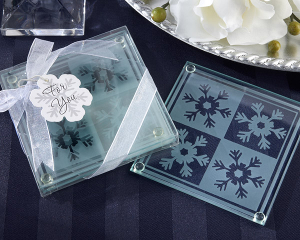 <center>Crystals Snowflake Glass Coasters (Set of 2)</center>