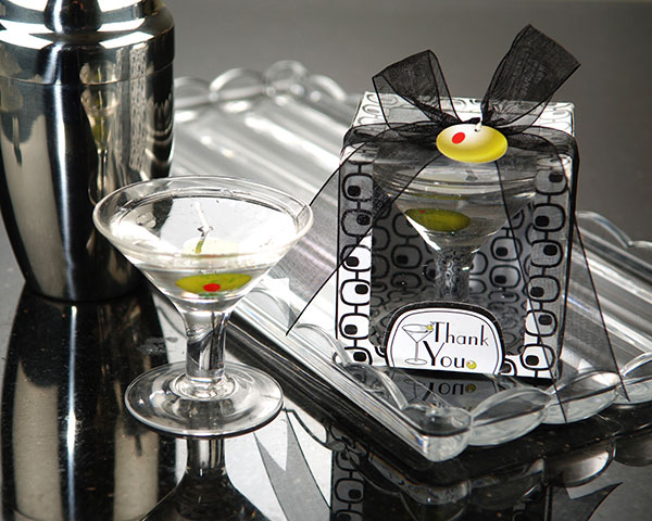 <center>Martini Glass Gel Candle </center>